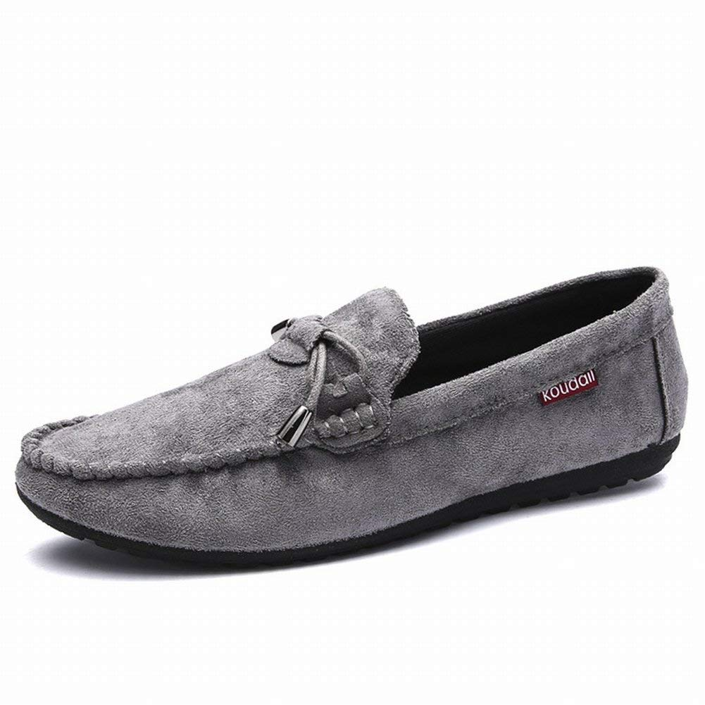 Fuxitoggo Arbeiten Sie Beiläufige Schuhe Bequeme Allgleiches Bohnenschuhbelegabnutzungs-Männer um (Farbe   Grau Größe   EU 40)