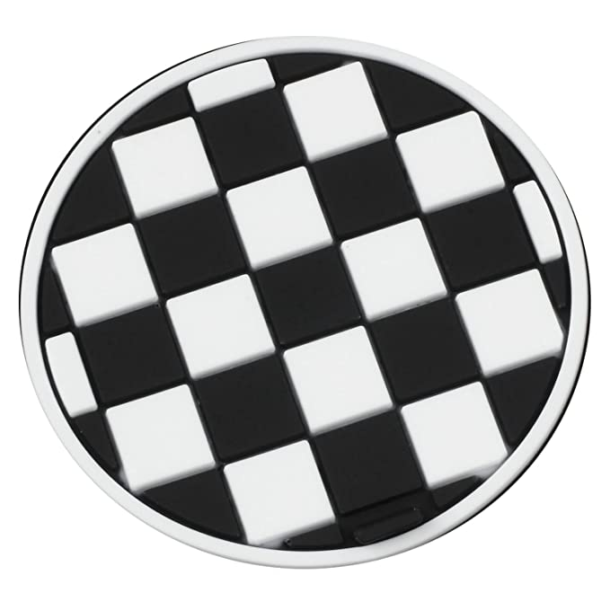 TOOGOO R Mini Auto Car Water Cup Bottle Holder Anti-slip Pad Mat 77mm Black and White