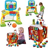 VTech Smart Shots Sports Center and Alphabet Activity Cube - Kids Brain Development Toys, 2-Piece Bundle