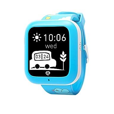 Relojes inteligentes Misafes, Niños SOS Smartwatch Teléfono GPS Rastreador Niños Anti-perdida reloj de