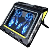 Gaming Laptop Cooling Pad, 4500RPM Strongest Laptop Cooler 17.3 inch, Laptop Cooling Stand with Faster Heat Dissipation, Colo