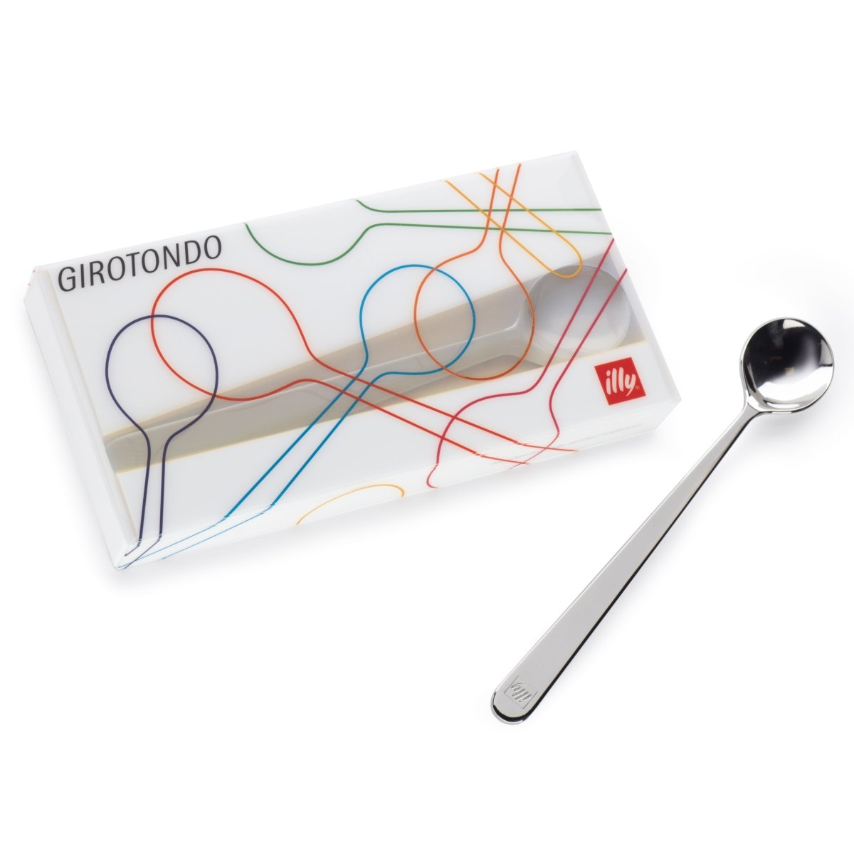 Illy 6 cucharillas Café largo de 160 mm Girotondo by Matteo Thun ...