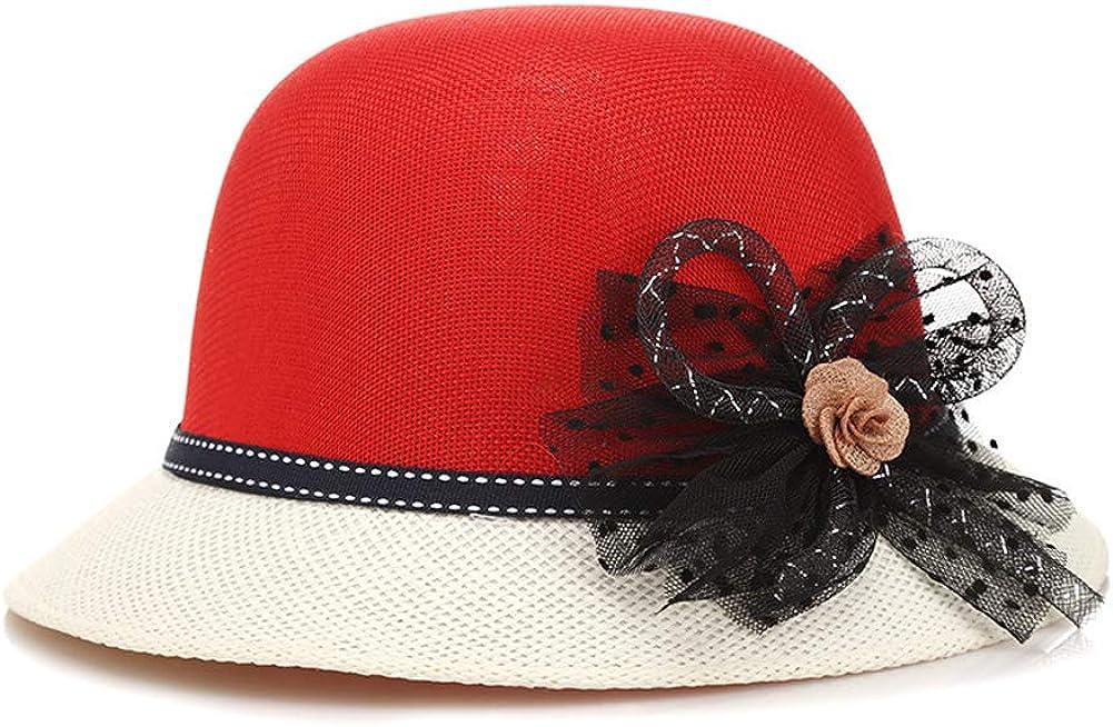 ChenXi Store Lady Church Derby Dress Cloche Hat Fascinator Floral Tea Part Bucket Hat