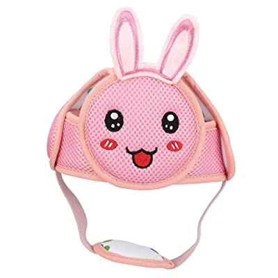 Baby Anti-Collision Hat, Baby Toddler Head Hat Lightweight Hook & Loop Safety Helmet Anti-Collision Head Protective Safety Helmet for Walking(Pink Rabbit) : Baby