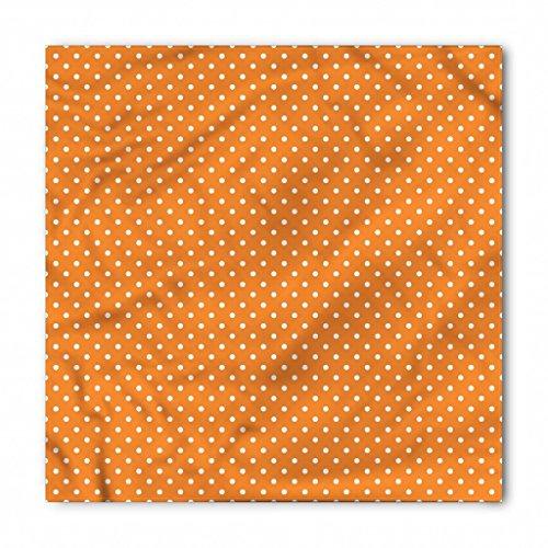 Lunarable Unisex Bandana, Polka Dot Traditional Spots, Orange White