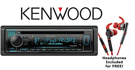 Kenwood KDC-BT372U CD Receiver with Bluetooth, USB Sport Headphones Included