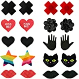 JESWELL Nipple Covers Disposable Pasties Breast Petals for Women Lingerie