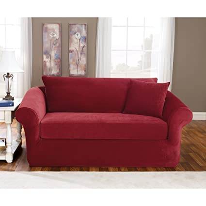 Amazon Com Sure Fit Stretch Pique Three Piece Sofa Slipcover