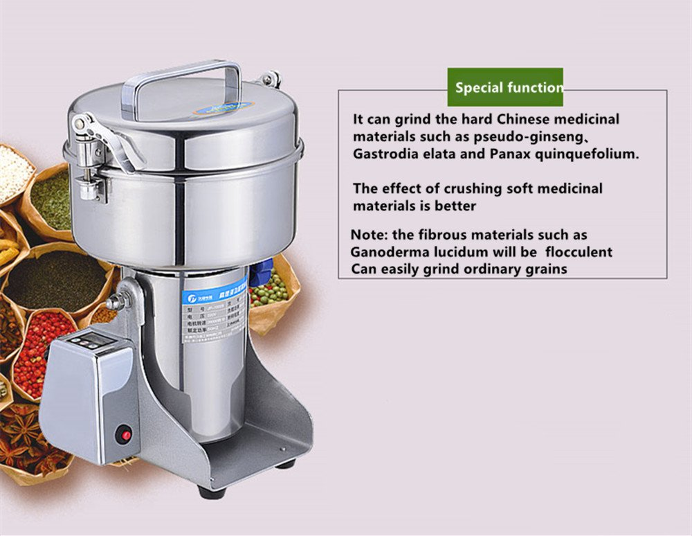 NEWTRY 1000g Pulverizer Blender Mixer Household Food Mill Grain Grinder Superfine For Kitchen Chinese Medicinal Materials Spice Coffee Herb Flavoring 110V/220V by NEWTRY (Image #3)