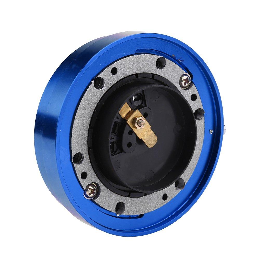 Azul Qiilu Universal Volante Kit de Adaptador de Cubo de liberaci/ón r/ápida para Coche Carreras