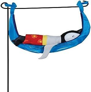 Premier Kites 59152 Garden Charm, Surfing Penguin, 18-Inch