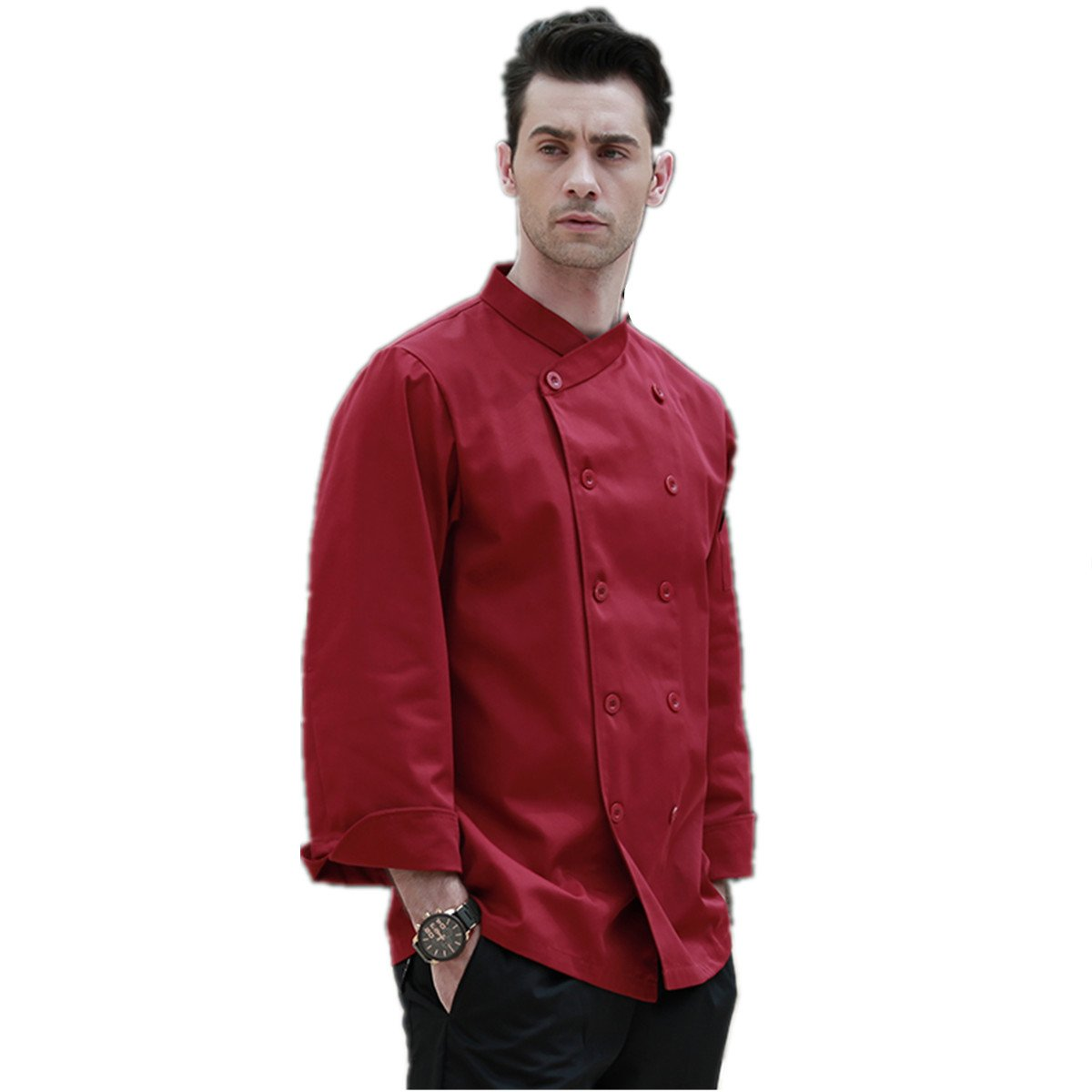 XINFU Men's Cloth Chef Long/Short Sleeve Hotel Western Restaurant Kitchen Clothes