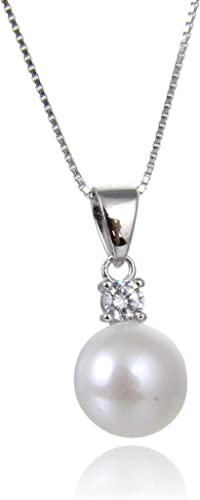 """Genuine White Pearl Pendant Necklace Starfish 18/"""" 16/"""" Cultured Freshwater"""