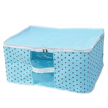Tela no tejida de toallas alfombra Ropa Organizador Caja de almacenamiento de bebé azul: Amazon.es: Oficina y papelería