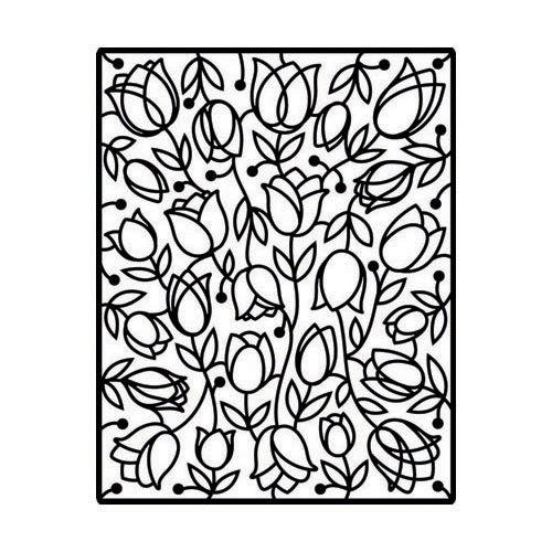 Spellbinders Impressabilities Template to Emboss/Deboss, Tulips