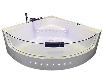 Vasche Da Bagno Idromassaggio : Vasca da bagno idromassaggio angolare cm carnelli white