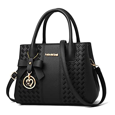 76db3ba300 Amazon.com  Handbags for Women Fashion Ladies Purses PU Leather Satchel  Shoulder Tote Bags  Clothing
