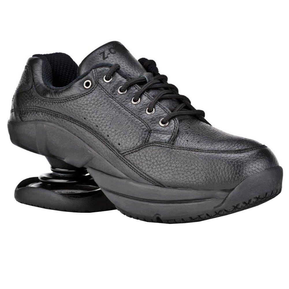 Z-CoiL Women's Legend Slip Resistant Black Leather Tennis Shoe 7 C/D US