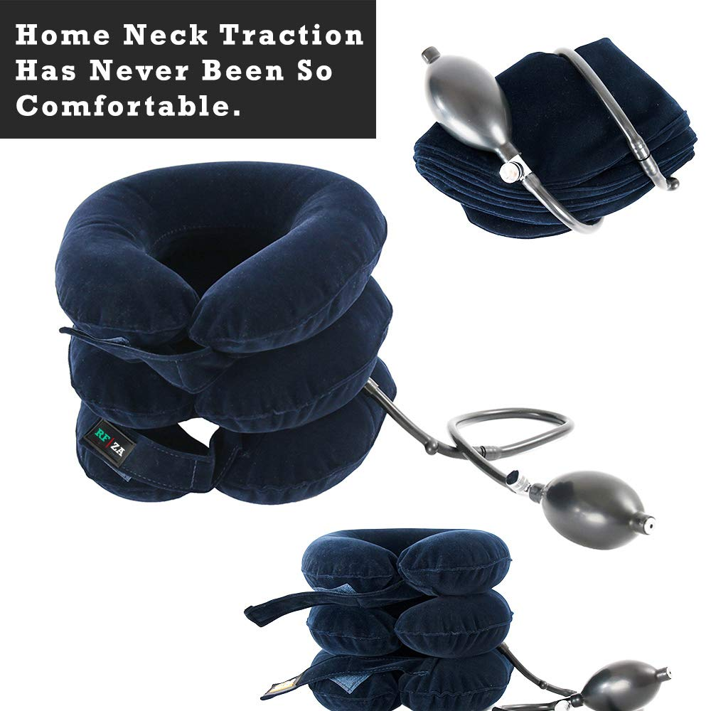 Cervical Neck Traction   Air Neck Therapy   Adjustable Neck Stretcher Collar Device   Cervical Collar for Neck Support and Decompression - Neck Pain ...