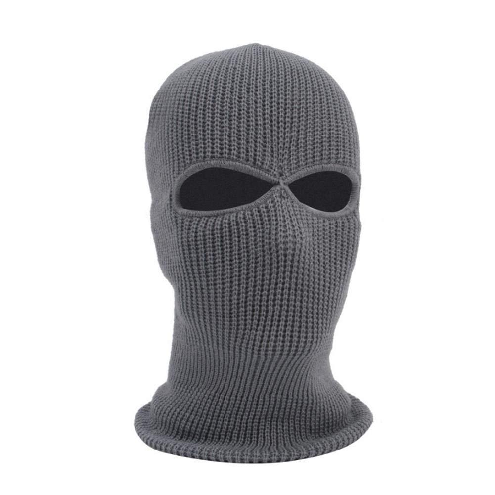 supertop Maschera a pieno facciale, Cappello a 2 fori in maglia, Maschera da sci invernale con neve elasticizzata Maschere viso caldo per sci, snowboard, motociclismo LeKing