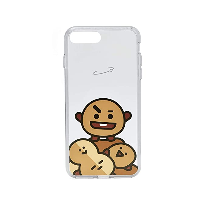 competitive price 811ab 42eff BT21 Official Merchandise by Line Friends - SHOOKY Character Clear Case for  iPhone 8 Plus/iPhone 7+, Brown