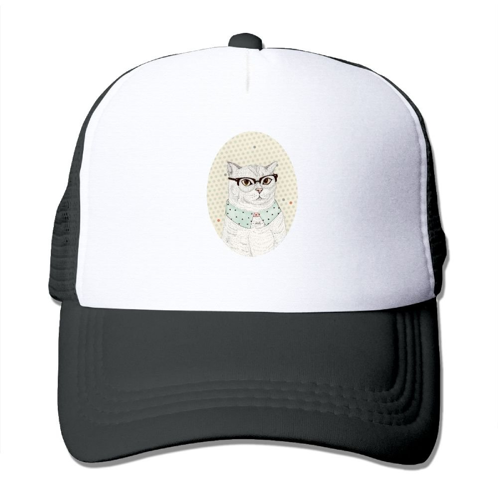 FeiTian Cute Cat Simple Baseball Caps For Adults Designs Great For Sports Hiking Snapback Hat