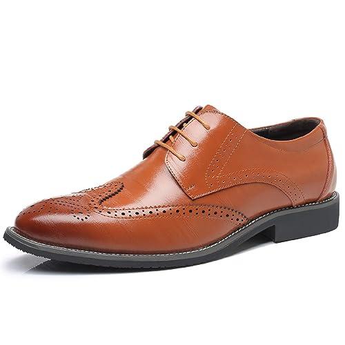 Zapatos Cuero Casual Para Boda Hombre Oxford Cómodos Lily999 brogue rCedxBWQoE