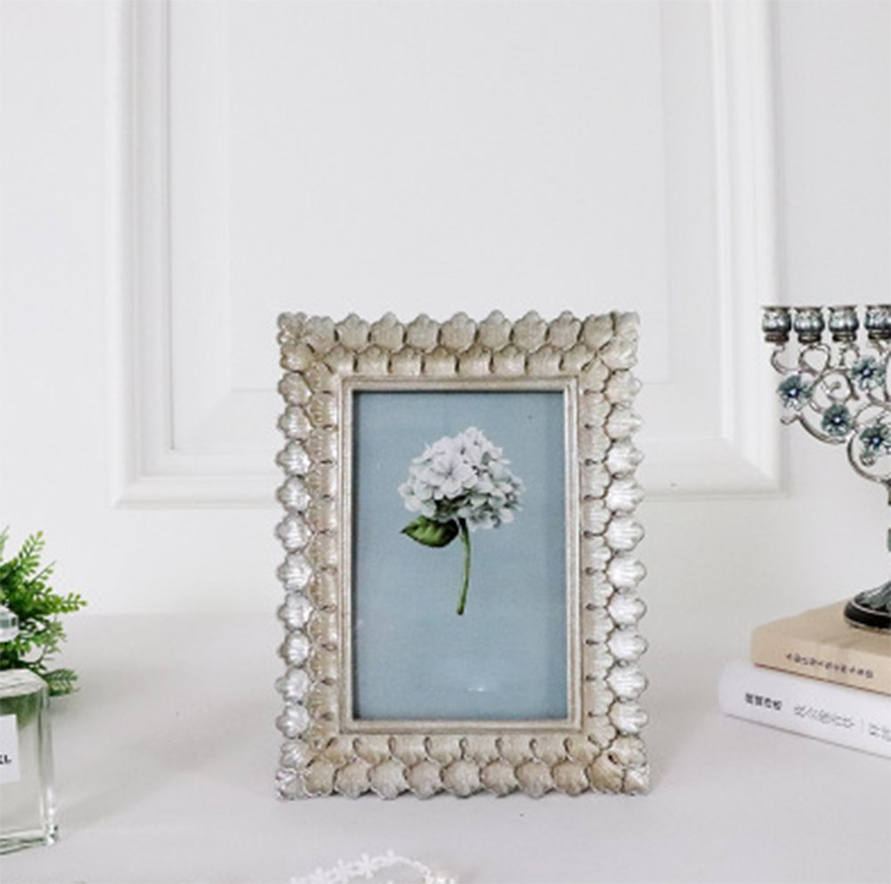 weiwei Portaretrato resina retro, Marco de foto creativa hecha a mano Arte 6 pulgadas 7 pulgadas Marco de fotos de boda-A 12.7x17.7cm(5x7inch): Amazon.es: ...