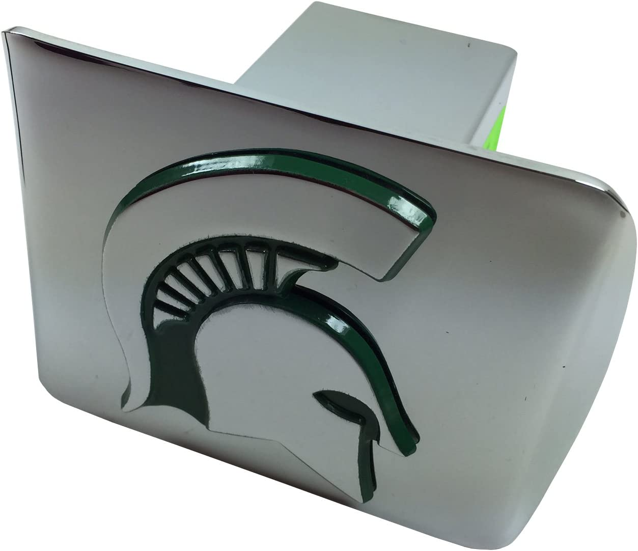FANMATS  15073  NCAA Michigan State University Spartans Chrome Hitch Cover