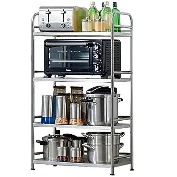 Estante de Cocina Horno De Microondas de 4 Niveles Almacenamiento De Metal Horno De Cocina (