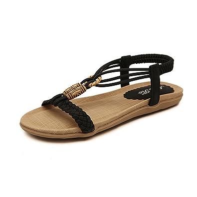 Eagsouni Damen Sandalen Flach Zehentrenner Riemchen Sandaletten Sommer Schuhe ubuQSgyqpP