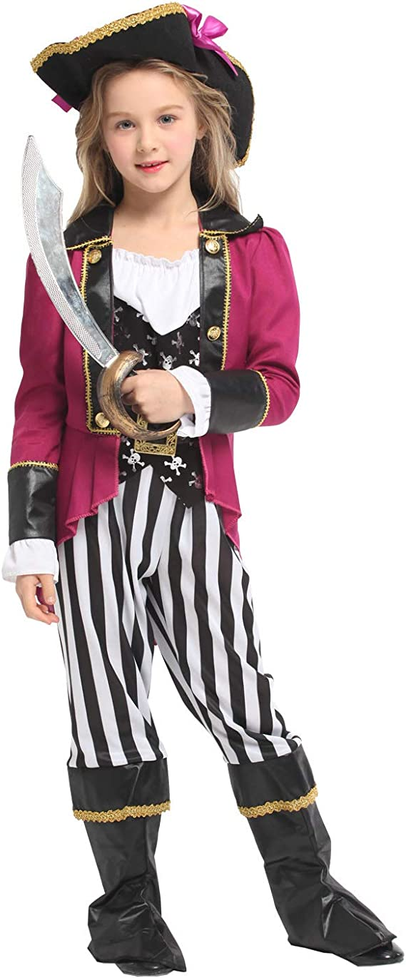 Costume- de Halloween Disfraz de disfraz de disfraces de pirata ...