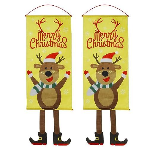 Toyvian 2 Piezas Decoraciones Colgantes de Puerta de Navidad ...