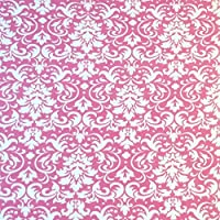 SheetWorld Round Crib Sheets - Pink Damask - Made In USA