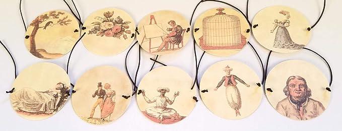 Thaumatrope Box Set Optical Toy Bird in cage Magic Spinning Circles Cards