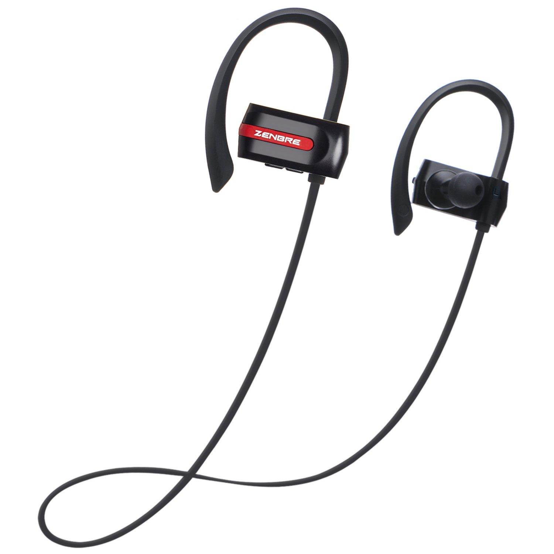 Auriculares Bluetooth, Auriculares estéreo ZENBRE E3 Bluetooth 4.1, Auriculares inalámbricos Hasta Reproducción HRE 7, Compatibilidad con barrido de aislamiento duradero con bajos mejorados (negro)