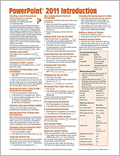 Powerpoint 2011 For Mac Introduction Quick Reference Guide Cheat