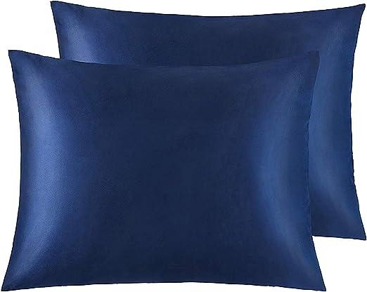 Amazon Com Ntbay Zippered Satin Pillowcases Super Soft And