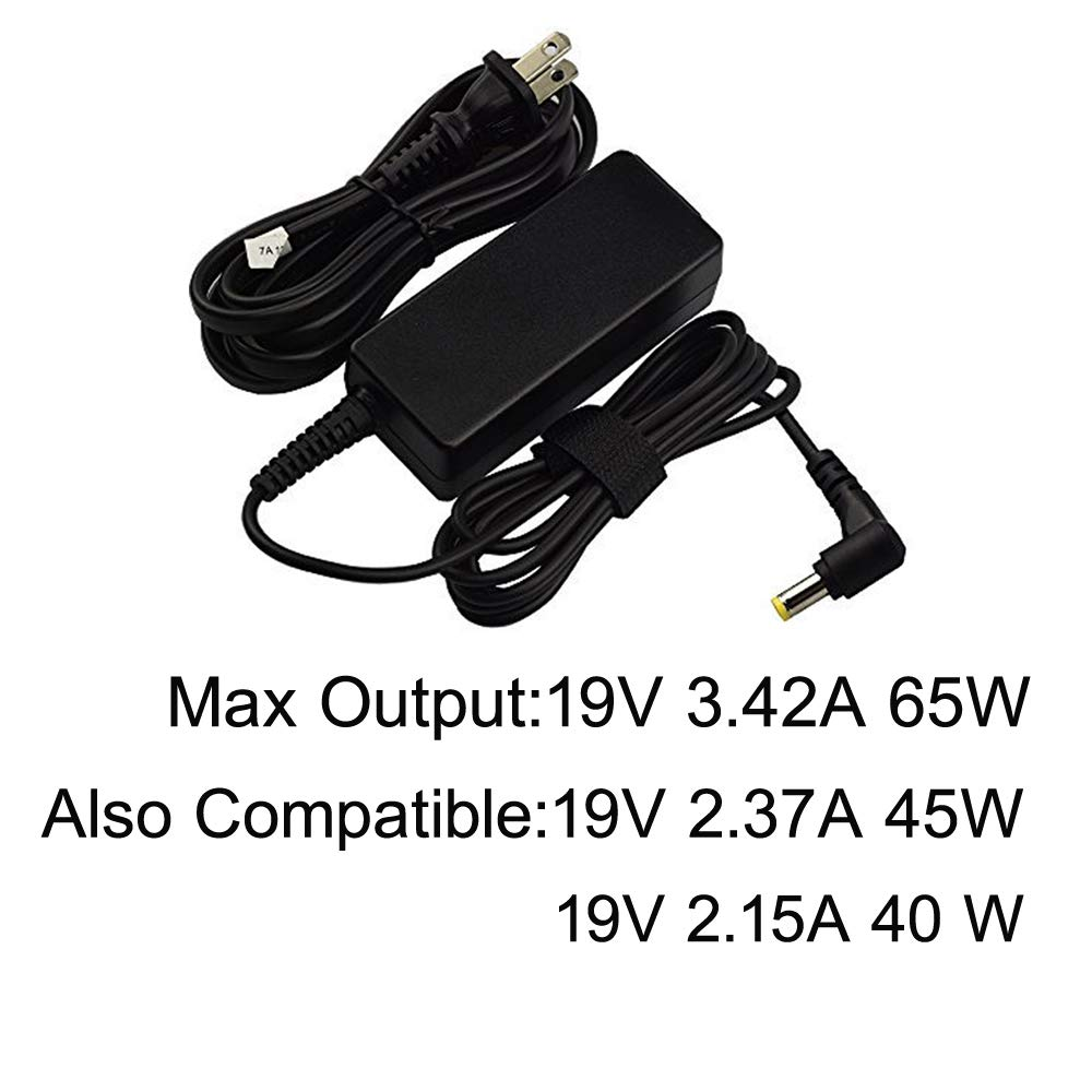 Nicpower 65W AC Adapter Laptop Charger for Acer Aspire F 15 F15 F5-573 F5-573G F5-573T F5-571 F5-571T F5-572 Power Supply Cord