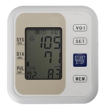 Tensiometro De Brazo Digital,Con Detección Y Almacenamiento De Frecuencia Cardíaca, Pantalla LCD: Amazon.es: Deportes y aire libre