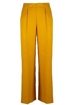 Jaune Pantalon Soie Femme Beatrice B 19fe11568402250 cRj354LqAS