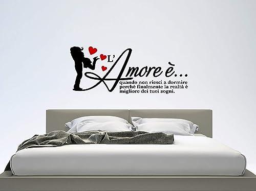 Adesivi Murali Testata Letto.Adesivi Murali Love Wall Stickers Love Sticker Frase Amore