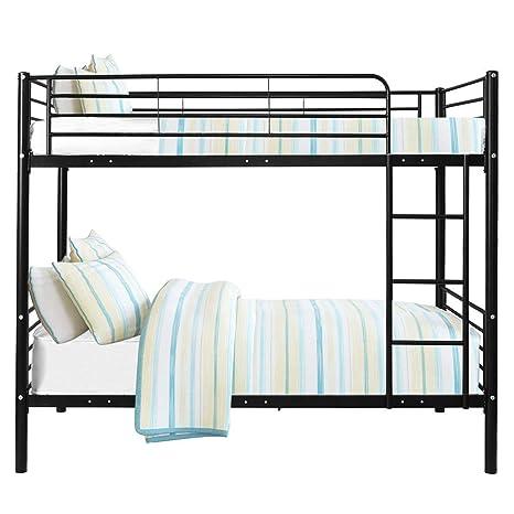 Twin Loft Bed Metal Frame Kids Bedroom Furniture Ladder Boys Girls Guardrails Beds Bed Frames Home Garden