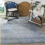 Safavieh Adirondack Collection ADR117D Blue and Silver Contemporary Area Rug (4′ x 6′) Review