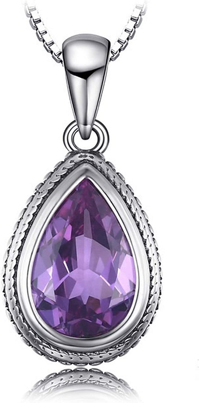 MMC Silver Necklaces 11ct Alexandrite Sapphire Fashion Womens Pendants