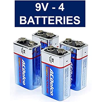 ACDelco 9V Super Alkaline Batteries, 4 Count