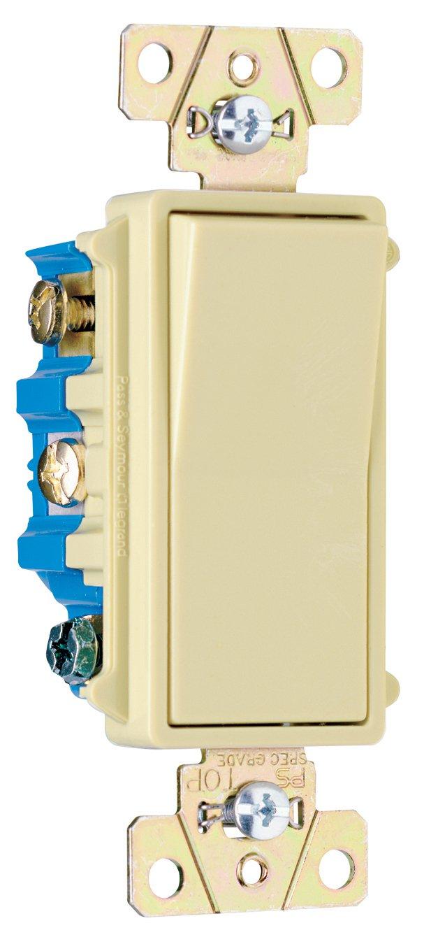 Pass & Seymour TM870WSLCC10 Trademaster Decorator Illuminated Switch ...