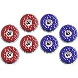 TORPSPORTS(Dia.53mm 2-1/8'' Shuffleboard Pucks, Set of 8 Blue/Red