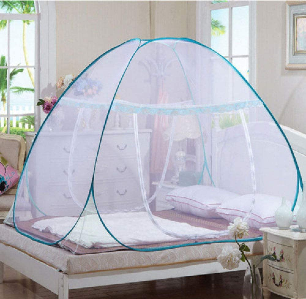 LJQLXJ Mosquitera Pop Up Camping Tent Bed Canopy Mosquito Net Queen King Size Netting Bedding Insecticide Treated Mosquito Net,180x200cm