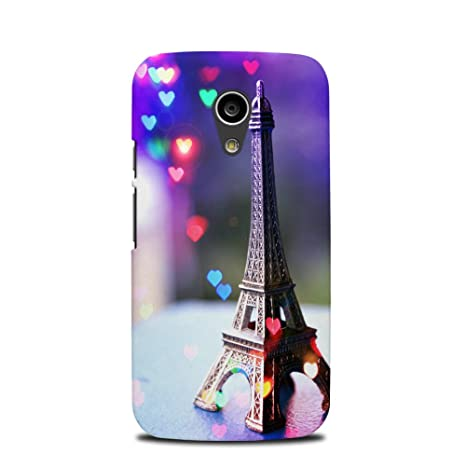 meet bd8a1 e4b0e theStyleO Hard Plastic Eiffel Tower Designer Printed Back Mobile Cover for  Moto G2 (2nd Gen)